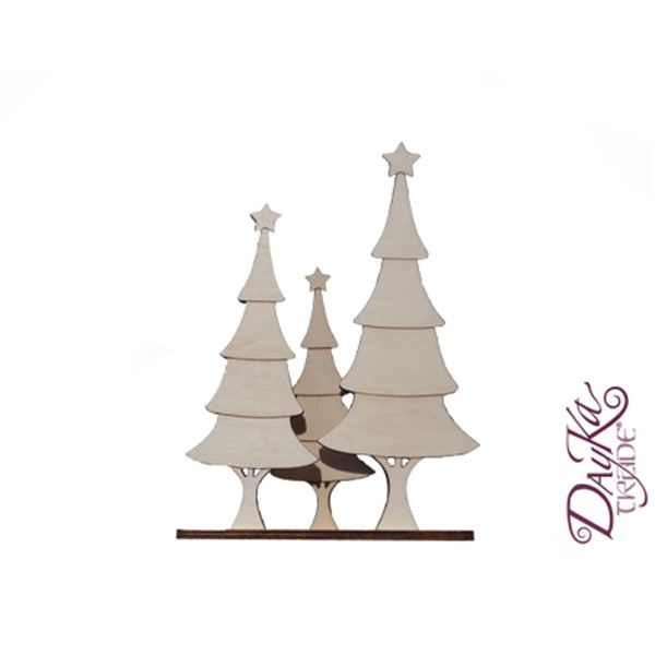 Trio arboles de madera - DAYKA112