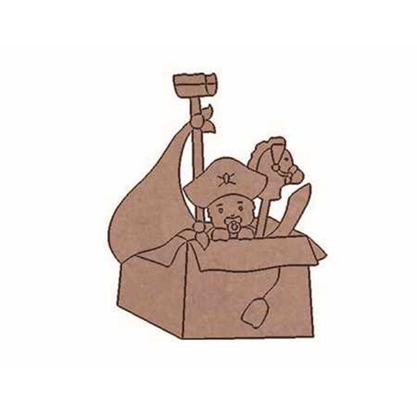 Pirata con caballo 9x7.5cm - BABY-01P