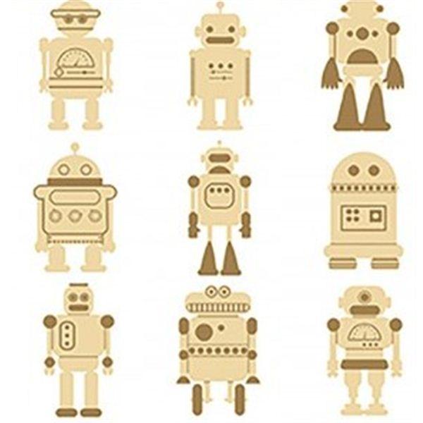 Set mini siluetas robots - 14002334