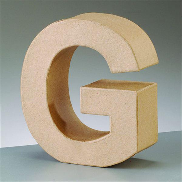 """Letra """"g"""" cartón craft de 17.5x5.5cm - 4016299984033"""