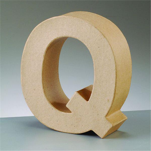 """Letra """"q"""" cartón craft de 17.5x5.5cm - 4016299984132"""