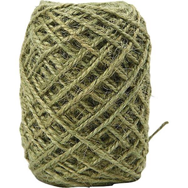 Cordón cañamo 1.5mm 30mt verde - 1059202