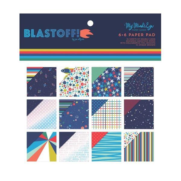 """Paper pad 6x6"""" blast off"""