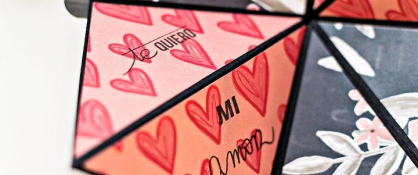 "Tarjeta ""squash"" para San Valentín"