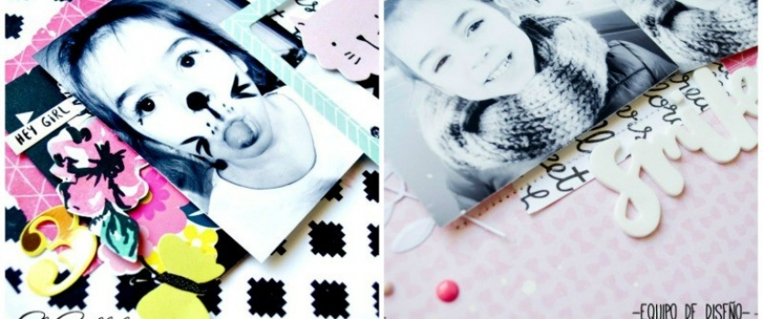 Layouts Miau & Smiles con Crate Paper