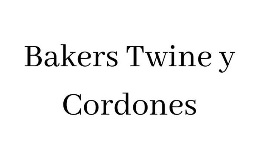 Bakers Twine y Cordones