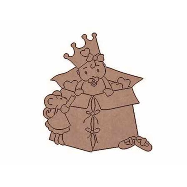 Princesita en caja 9x8cm - BABY-09P