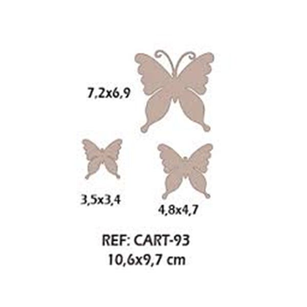 Trio maripositas jardin - CART-93