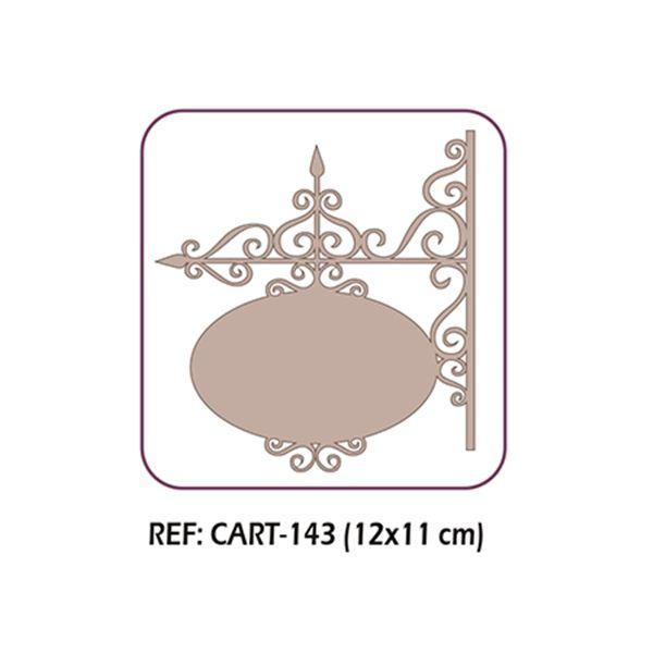 Letrero filigrana oval - CART-143