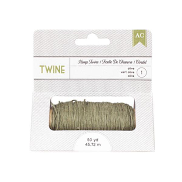 Hemp twine-olive - 366591