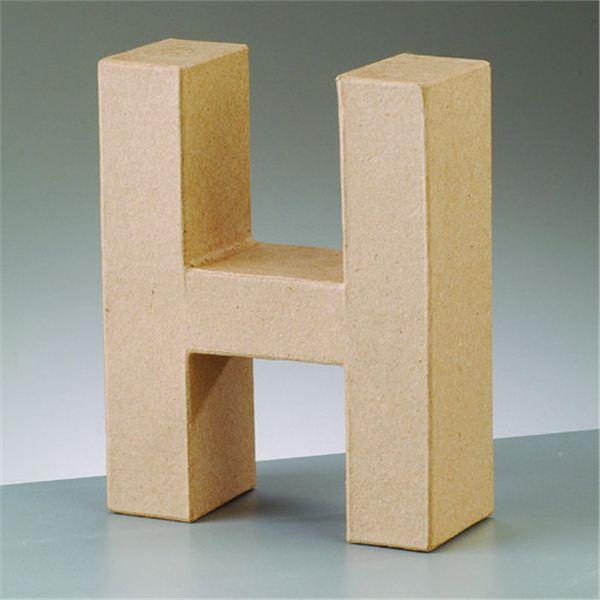 """Letra """"h"""" cartón craft de 17.5x5.5cm - 4016299984040"""