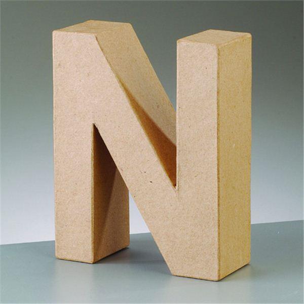 """Letra """"n"""" cartón craft de 17.5x5.5cm - 4016299984101"""