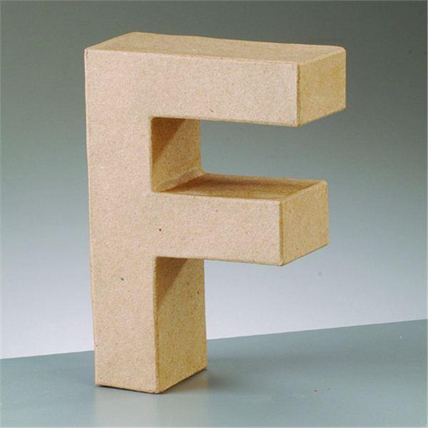 "Letra ""f"" cartón craft de 17.5x5.5cm - 4016299984026"