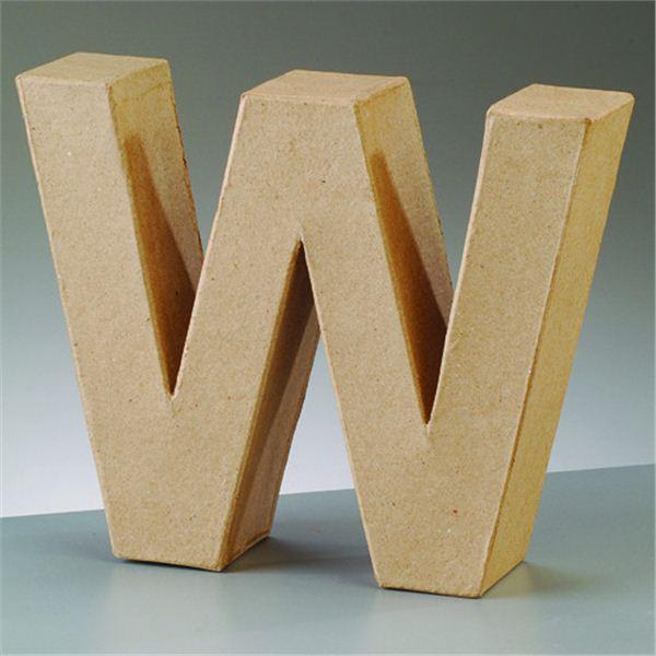 "Letra ""w"" cartón craft de 17.5x5.5cm - 4016299984194"