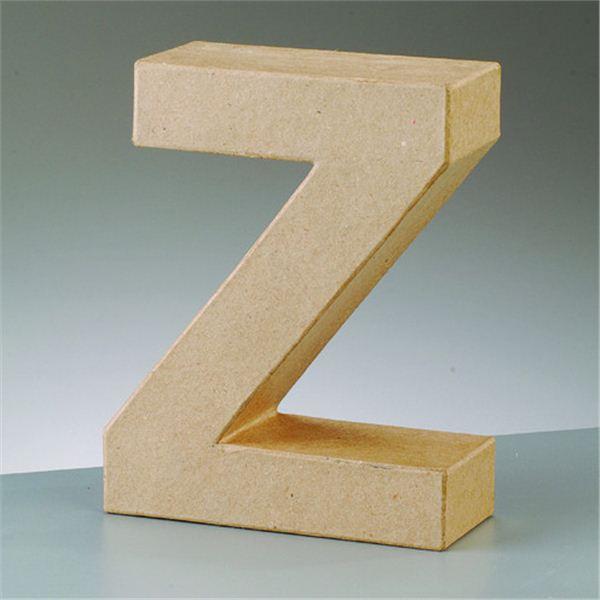 """Letra """"z"""" cartón craft de 17.5x5.5cm - 4016299984224"""