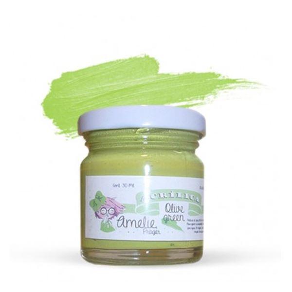 Acrílica olive green 30ml - AMA-08