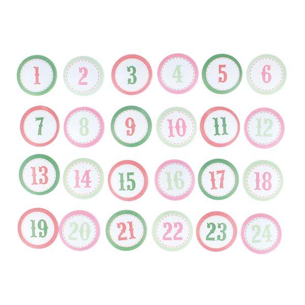 Cabuchones de madera calendario adviento - 14002569