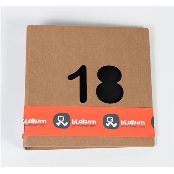 Álbum kraft 18 años 2 anillas 22x22cm - BK011-01