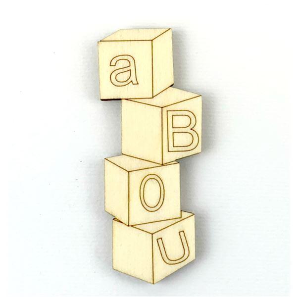 Cubos letras bebé 6cm - S0056