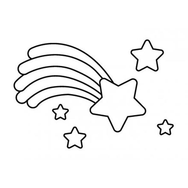 Sello de madera star rainbow 26x36mm - ARTHB1109