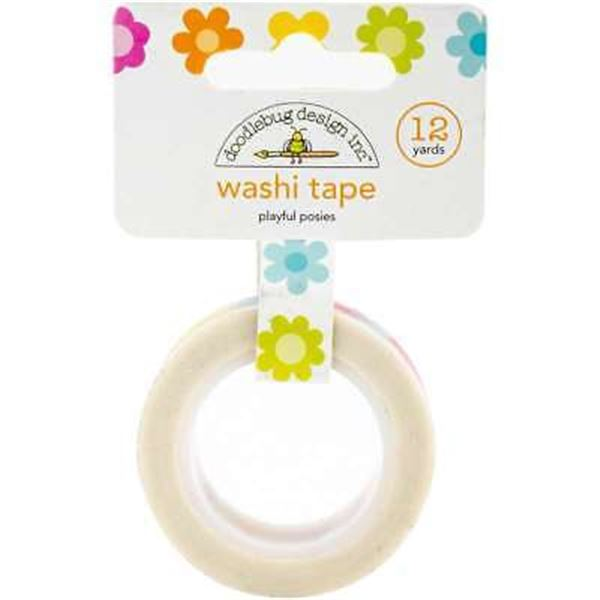Washi tape playful posies - 4989