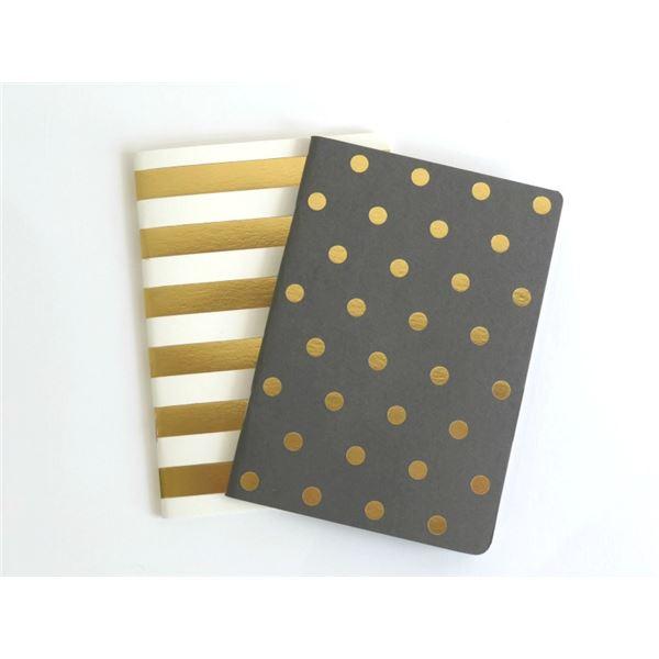 Set 2 blocs notas a6 shim.acc.gold/taupe - NEGRAYBLANCA