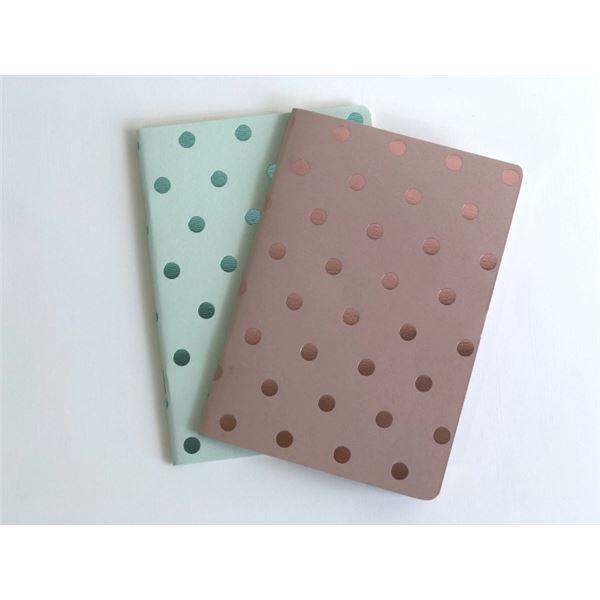 Set 2 blocs notas a6 shim.acc.blush/aqua - ROSAYTURQUESA