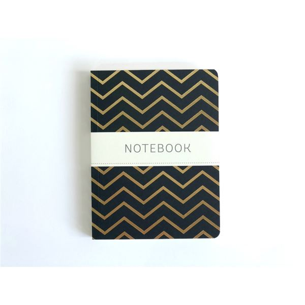 Bloc shimmer a6-black w/gold chevron