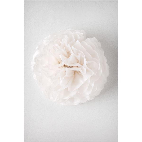 Pompon blanco lauzon m-35cm