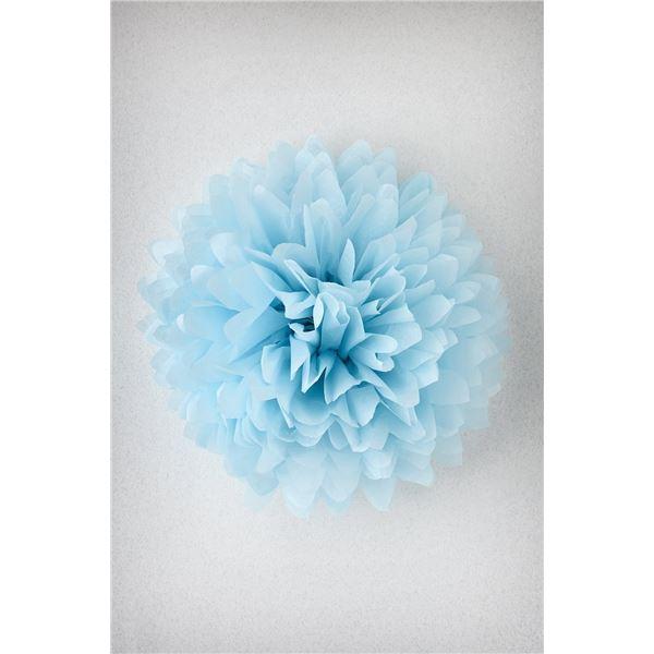 Pompon bleu arctique s-25cm - PBA