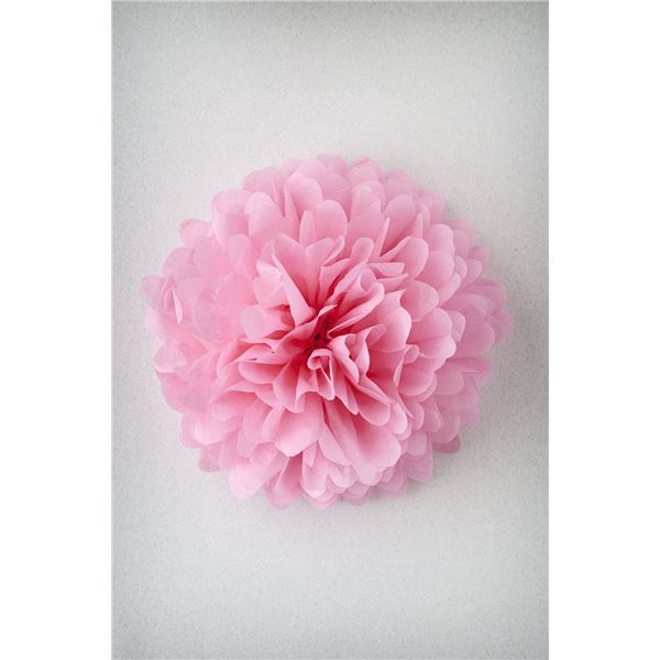 Pompon rose m-35cm - PR