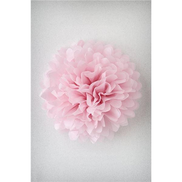 Pompon rose pale m-35cm - PRP