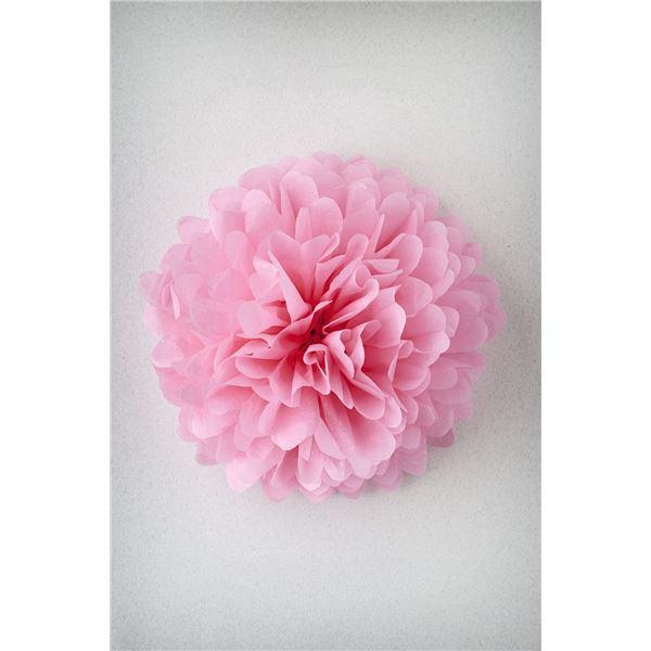Pompon rose s-25cm - PR