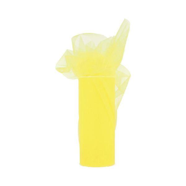 Rollo de tul 15cmx23m amarillo - 13092006