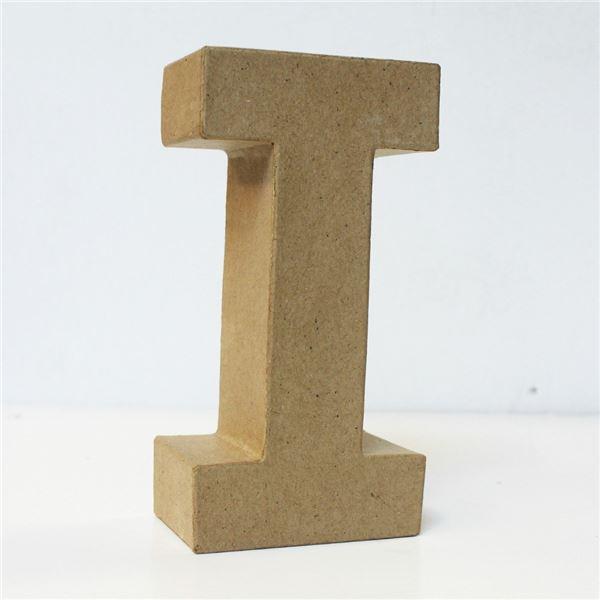 Letra i cartón craft 18cm - 8435471901068