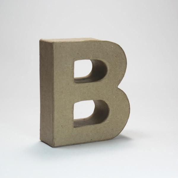 Letra b cartón craft 10cm - 10150037B