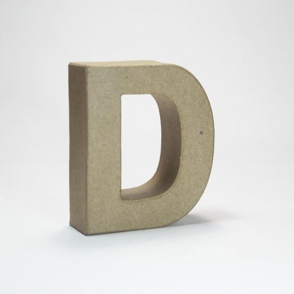 Letra d cartón craft 10cm - 10150039