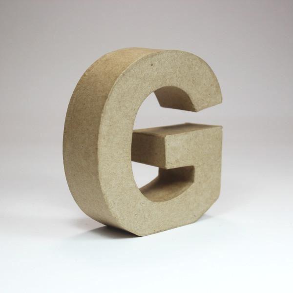 Letra g cartón craft 10cm - 10150042B