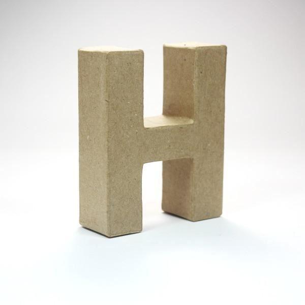 Letra h cartón craft 10cm - 10150043B