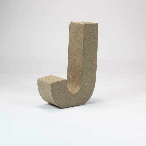 Letra j cartón craft 10cm - 10150045B