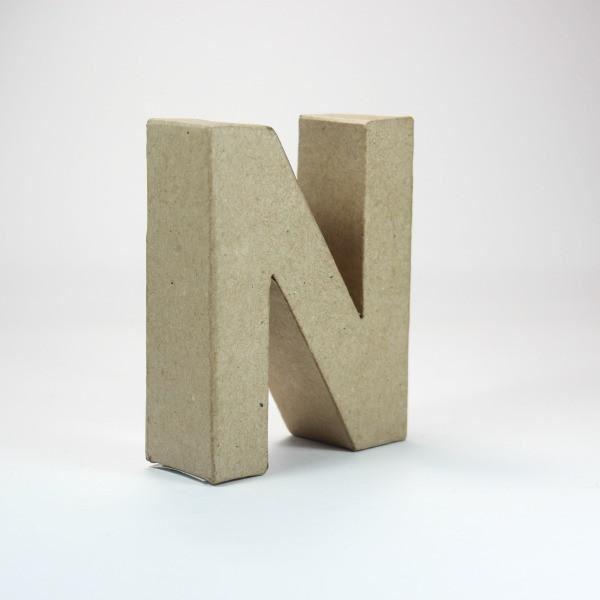 Letra n cartón craft 10cm - 10150049