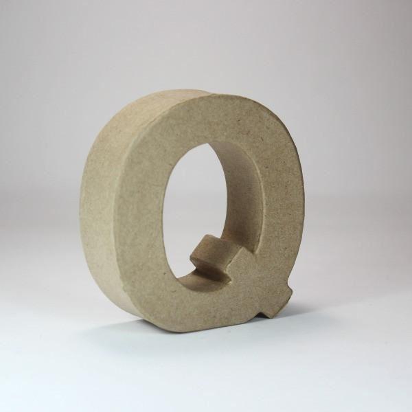 Letra q cartón craft 10cm - 10150052B