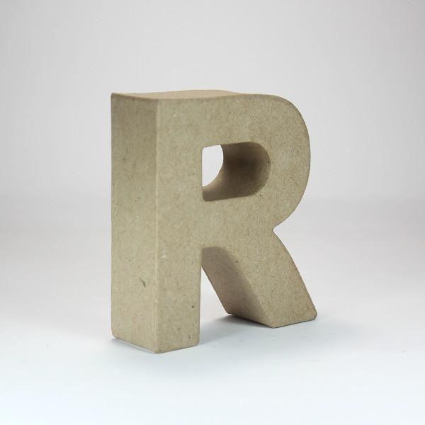 Letra r cartón craft 10cm - 10150053B