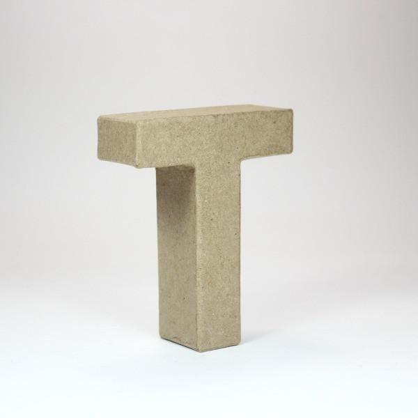 Letra t cartón craft 10cm - 8435471900726