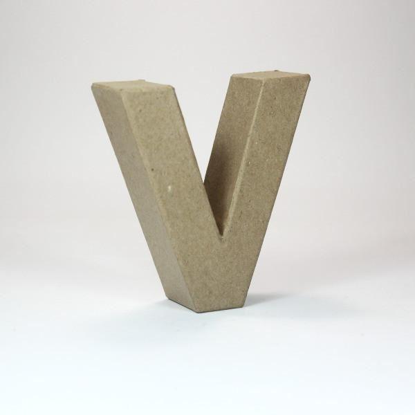Letra v cartón craft 10cm - 8435471900733