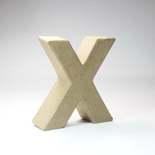 Letra x cartón craft 10cm - 8435471900757