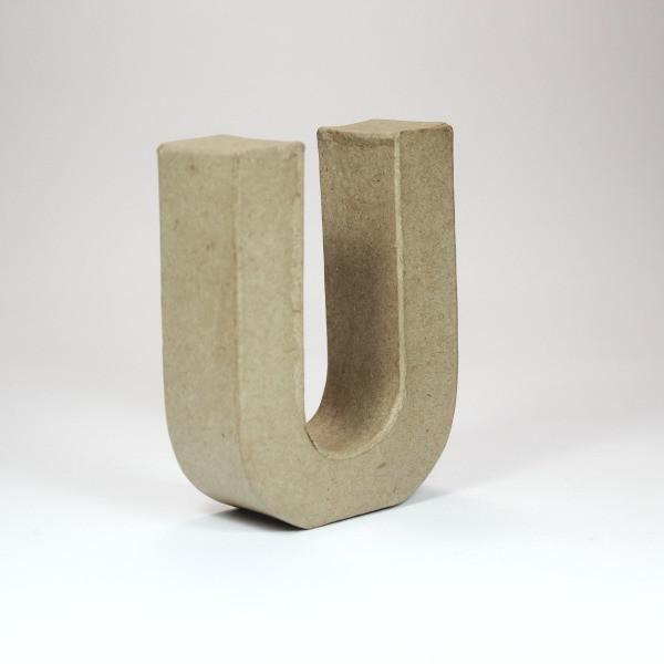 Letra u cartón craft 10cm - 10150073