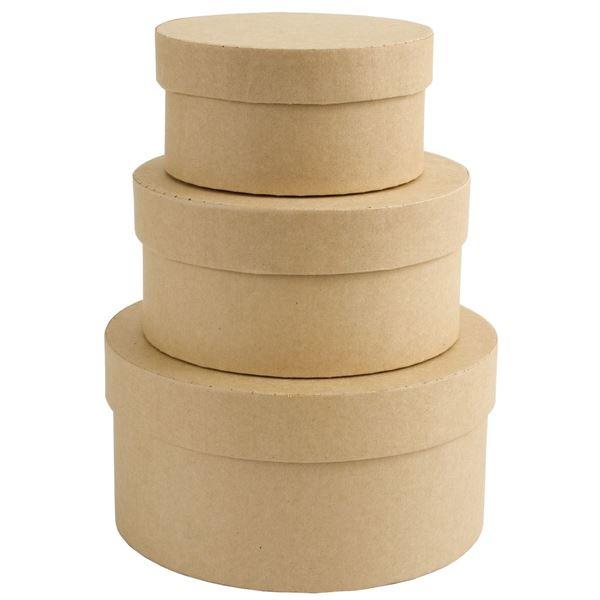 Pack 3 cajitas redondas - PMA1742202