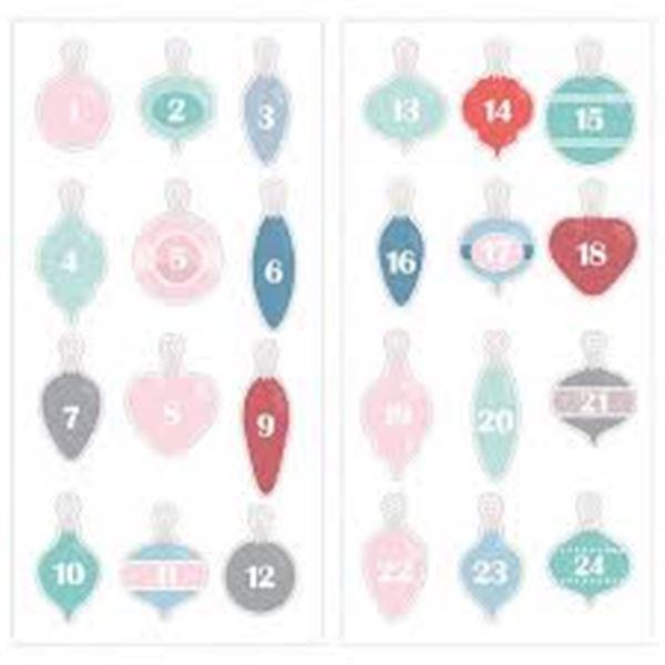 Bolas de navidad puffy para calendario de adviento - 11004713
