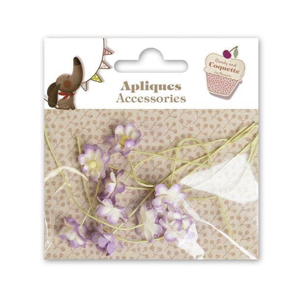 10 mini flores lila - A605716